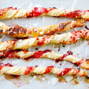 Cherry pie cinnamon sticks photo