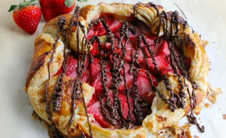 Puff Pastry Chocolate Strawberry Galette Recipe