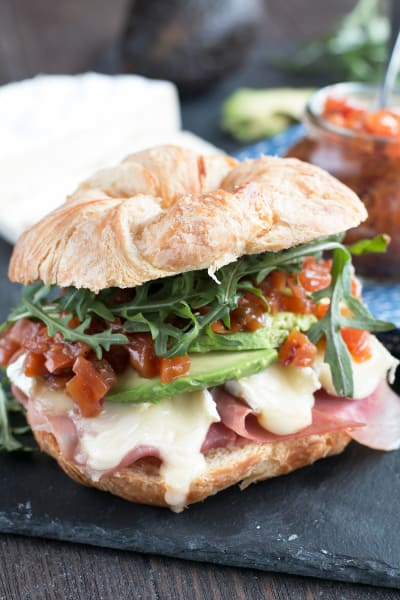 File 4 Avocado Prosciutto Brie Sandwiches