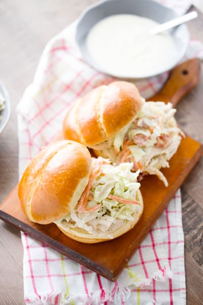 Ranch Pulled Chicken Sandwich Image