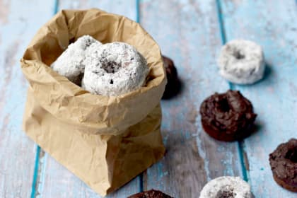 Chocolate Avocado Mini Donuts