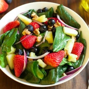 Spinach fruit salad photo