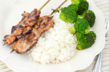 Gluten Free Teriyaki Chicken Skewers
