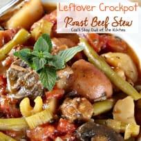 Leftover Crockpot Roast Beef Stew