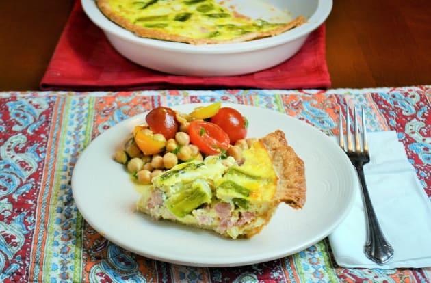 Ham and Asparagus Quiche Image