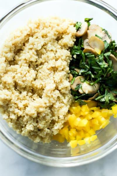 Kalamata Collard Quinoa Salad Process4