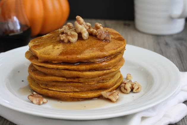 Whole Grain Pumpkin Pancakes Photo
