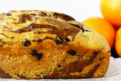 Marbled Chocolate Orange Bread