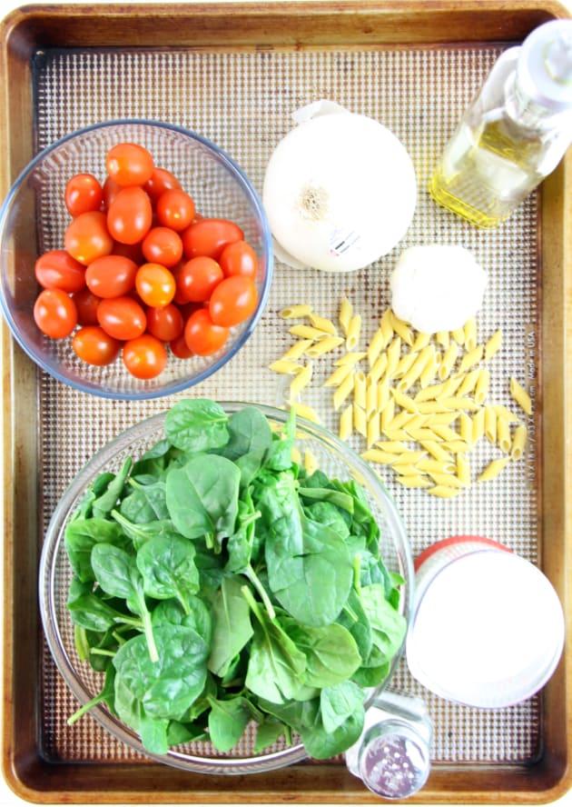 Creamy Tomato Spinach Pasta Picture