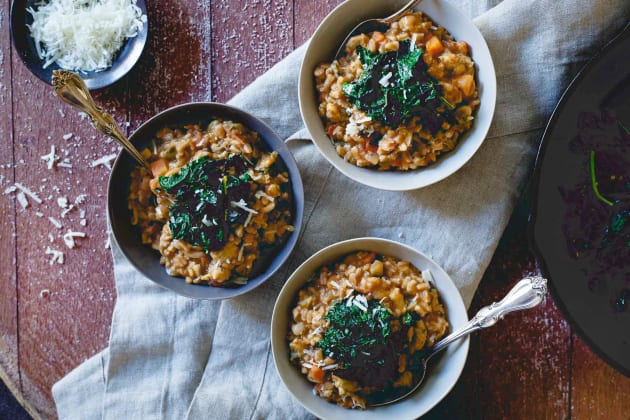 Tuscan White Bean Farro Risotto Photo
