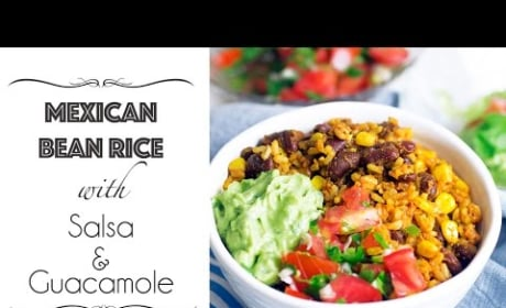 How to Make Mexican Bean Rice with Salsa & Guacamole