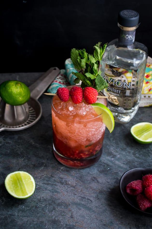 Raspberry Mint Tequila Smash Pic