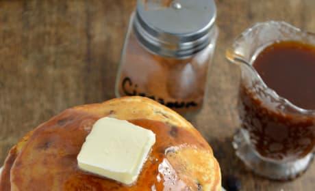 Cinnamon Raisin Bread Pancakes Pic