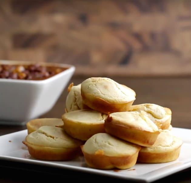 Mozzarella-Stuffed Mini Corn Muffins