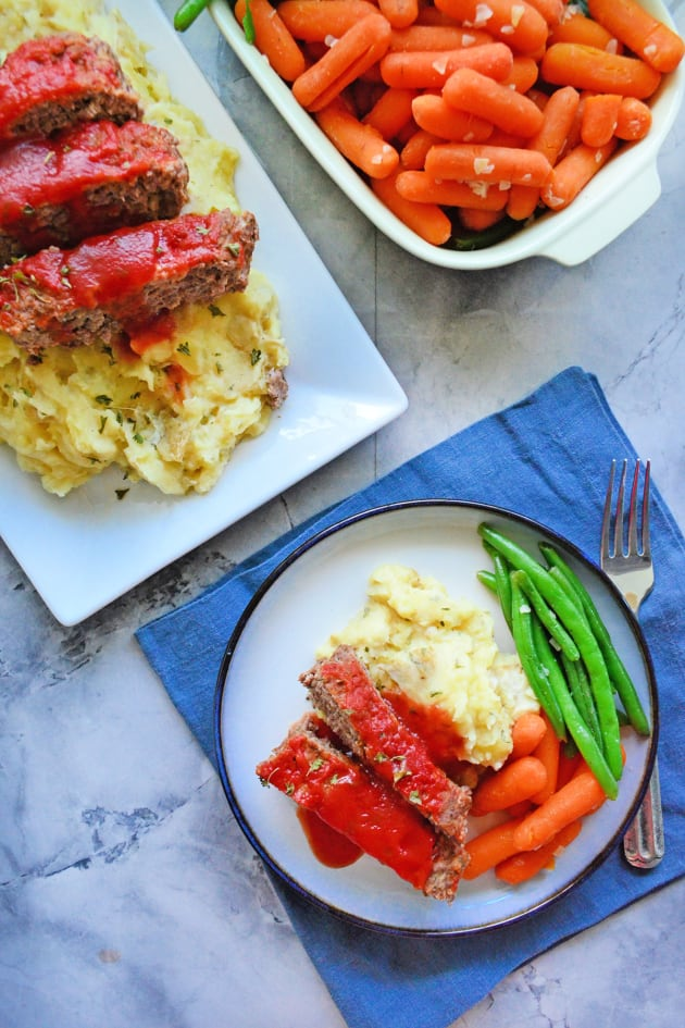 Instant Pot Meatloaf with Garlic Mashed Potatoes Image
