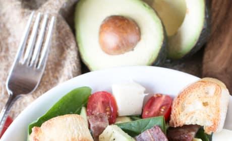 Avocado Caprese Panzanella Salad Pic