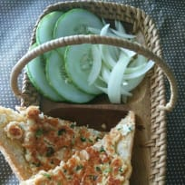 Paneer / cottage cheese open sandwiches