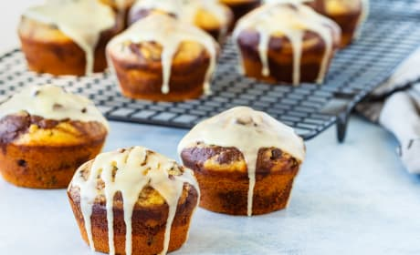 Glazed Chocolate Orange Muffins Pic