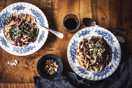 Mushroom Swiss Chard Pasta