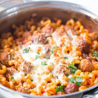 Skillet meatball lasagna photo