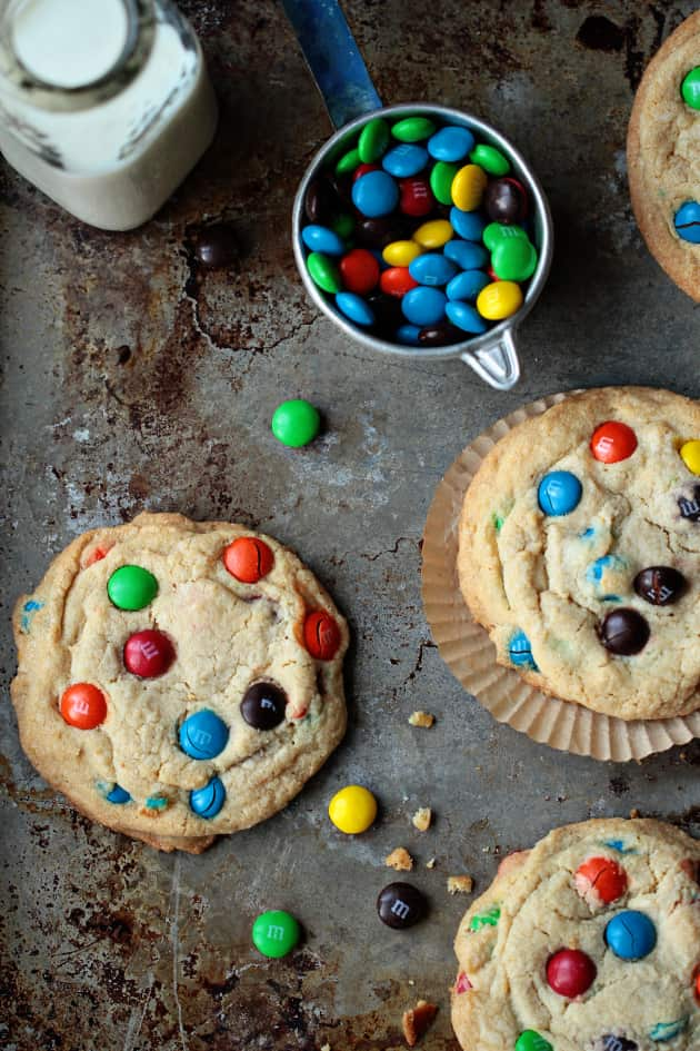 Giant M&M Cookies to Welcome Spring - Food Fanatic