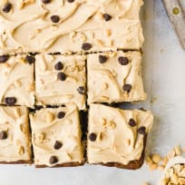 Banana Sheet Cake with Peanut Butter Frosting Recipe