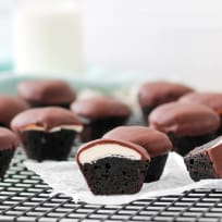 Peppermint Patty Brownie Bites Recipe