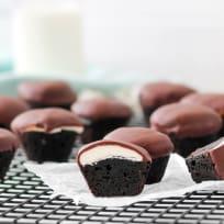 Peppermint Patty Brownie Bites Recipe