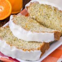 Frosted Orange Poppy Seed Bread Recipe