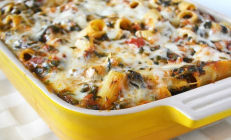 Baked Spinach Rigatoni Recipe