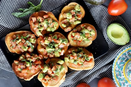 Avocado Bruschetta Recipe