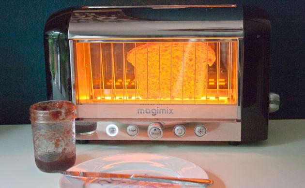 Honey Oatmeal Bread Toasting