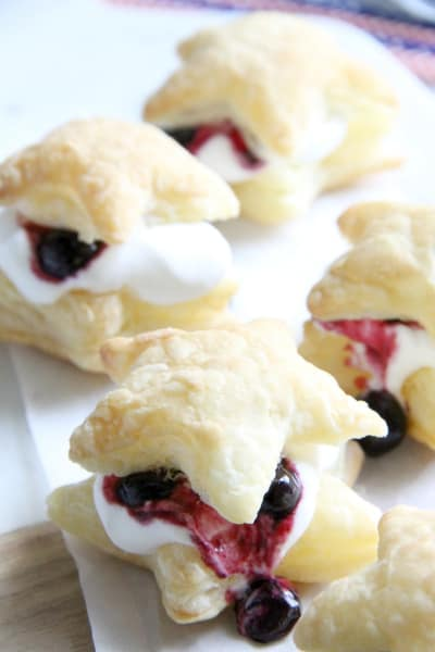 Blueberry Cream Puffs Image
