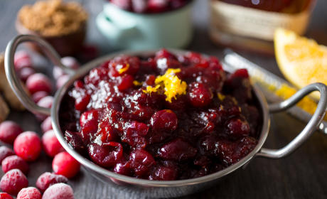 Bourbon Ginger Cranberry Sauce