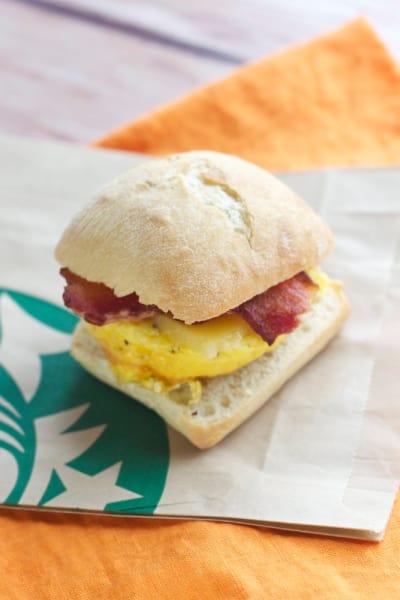 Starbucks Breakfast Sandwich Picture