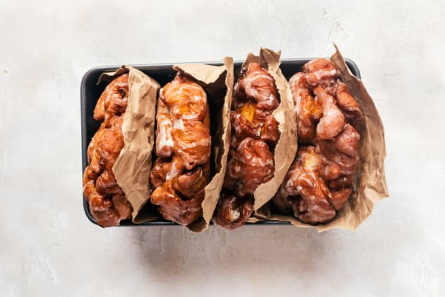 Peach Fritters with Maple Glaze