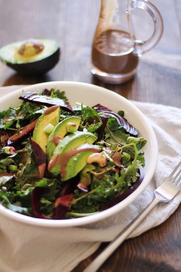 Roasted Beet & Avocado Salad Pic