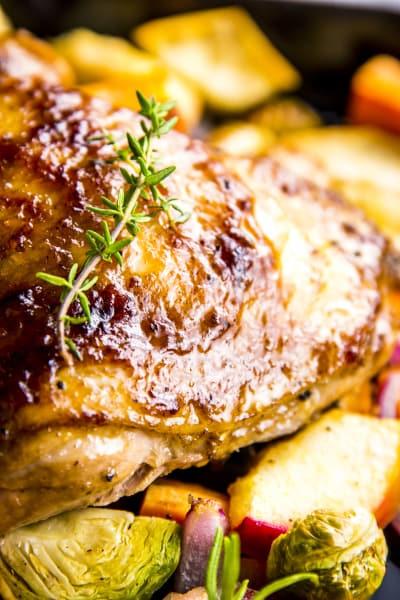 Balsamic Glazed Chicken and Winter Vegetable Sheet Pan Dinner Image