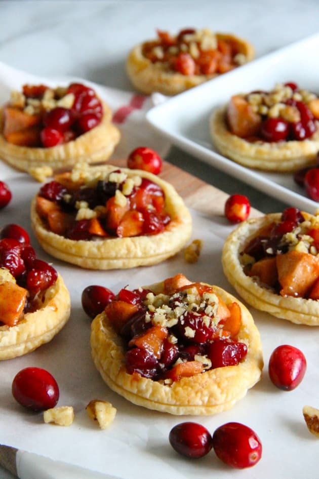 Cranberry Apple Walnut Tarts Picture