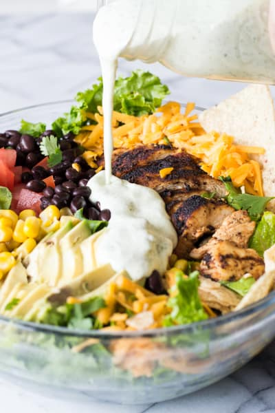 Chicken Taco Salad with Cilantro Ranch Pic