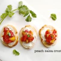 Peach Salsa Crostini