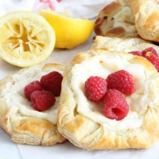 Lemon raspberry danish photo