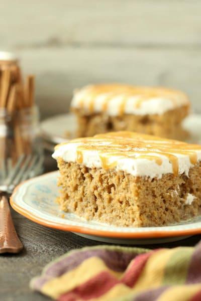 Pumpkin Spice Latte Poke Cake Picture