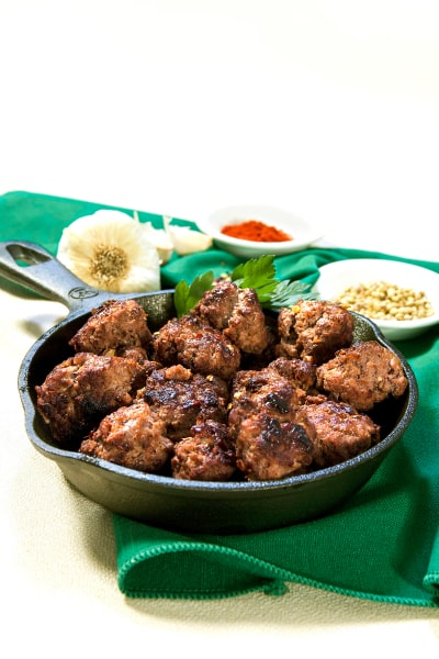 Low Carb African Merguez Meatballs Picture
