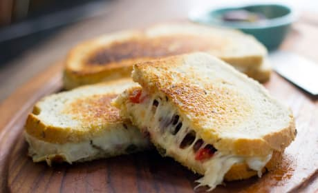 Muffuletta Grilled Cheese Photo