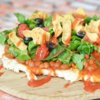 Grilled Chicken Taco Pizza Recipe