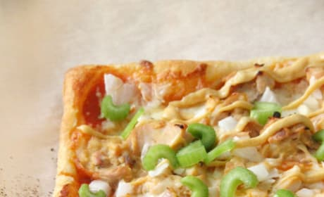 Puff Pastry Honey Mustard Chicken Pizza Picture