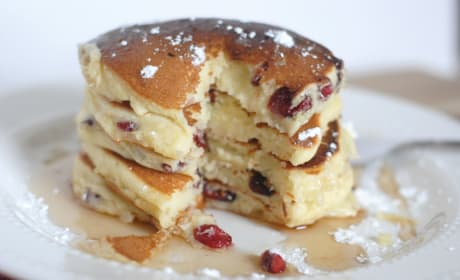 Cranberry White Chocolate Chip Pancakes Recipe
