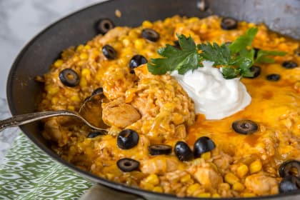 One Pan Southwest Chicken and Rice