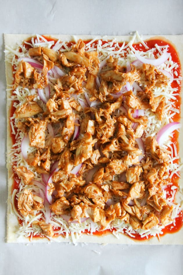 Puff Pastry BBQ Chicken Pizza Image